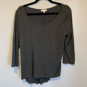 Gray 3/4 Sleeve Shirt
